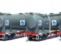 Southern Rail HO Scale 4 Car Set NSW NPRY/PRX Cement Hoppers with PTC Blue L7 Logo Series 2 (18221H)