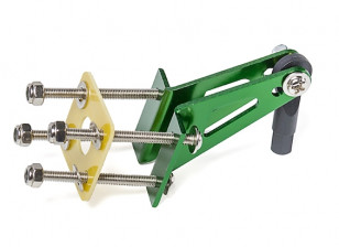 Aluminum Control Horn with Four Mounting Points and Ball Link (Green)