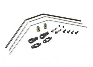 Rear Sway Bar Set (silver/blue/black) - Basher SaberTooth 1/8 Scale Truggy