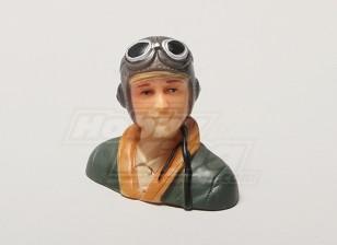 WW2/Classic Era Parkfly Pilot (Green) (H38 x W42 x D22mm)