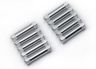 Lightweight Aluminium Round Section Spacer M3x22mm (Silver) (10pcs)