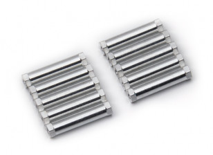 Lightweight Aluminium Round Section Spacer M3x24mm (Silver) (10pcs)