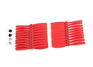 KingKong 5045 2-Blade Propellers Red (CW/CCW) (10 Pairs) w/Self-tightening Prop Adapters
