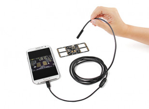 Mini USB Endoscope Borescope inspection camera for Android and Windows 2m w/LED