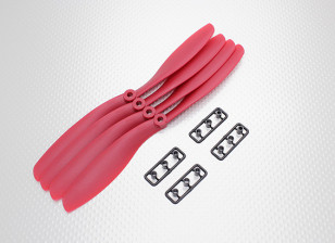Hobbyking™ Propeller 8x4.5 Red (CW) (4pcs)