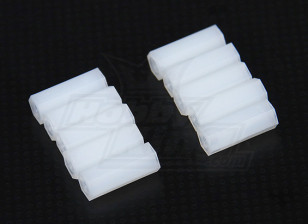 5.6mm x 15mm M3 Nylon Tapped Spacer (10pc)