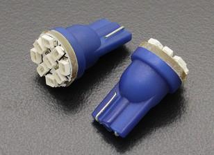 LED Corn Light 12V 1.35W (9 LED) - Blue (2pcs)