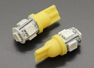 LED Corn Light 12V 1.0W (5 LED) - Yellow (2pcs)