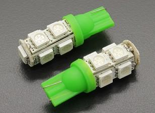 LED Corn Light 12V 1.8W (9 LED) - Green (2pcs)