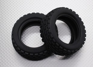 Front Tires w/Square Tread (2pcs/bag) - 1/10 Quanum Vandal 4WD Racing Buggy