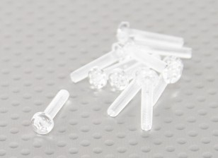 Transparent Polycarbonate Screws M3x15mm - 10pcs/bag