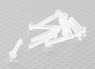 Transparent Polycarbonate Screws M3x20mm - 10pcs/bag
