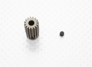 """""""Hard One"""" 0.7M Hardened Helicopter Pinion Gear 5mm Shaft - 16T"""