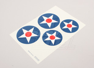 Scale National Air Force Insignia Decal Sheet - USA (large Type A)