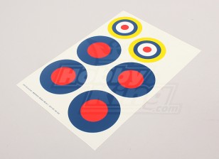 Scale National Air Force Insignia Decal Sheet - UK (Type B)