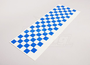 Decal Sheet Chequer Pattern Blue/Clear 590mmx180mm