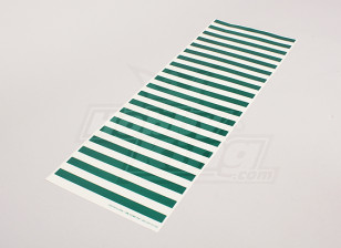 Decal Sheet Stripe Pattern Green/Clear 590mmx200mm