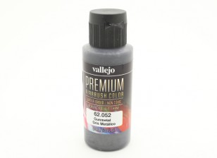 Vallejo Premium Color Acrylic Paint - Gunmetal (60ml) 62.052