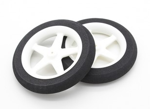 Light Foam Wheel 5 spoke (Diam: 80mm, Width 13mm) (2pc)