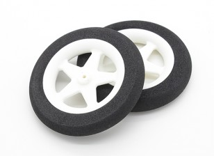 Light Foam Wheel 5 spoke (Diam: 65mm, Width 10mm) (2pc)
