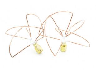 2.4GHz Circular Polarized Antenna RP-SMA (Set) (Short)