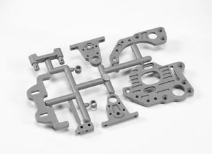 Motor Mount Plates/ Center Pulley Holders/ Shaft Spacers/Battery Holder/ Rear Belt Stabilizer Holder