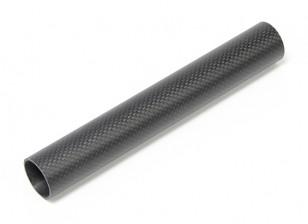 30 x 27 x 200mm Carbon Fibre Tube (3K) Plain Weave Matt Finish