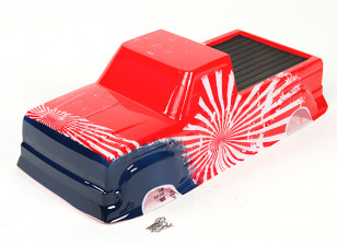 Painted body shell with decal - Nitro Circus Basher 1/8 Scale Monster Truck