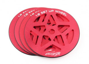 TrackStar 1/8 Scale Set-up Wheel Set (4pcs)