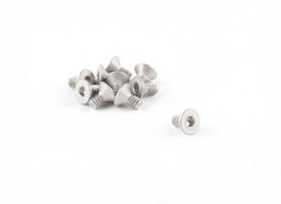 Titanium M2 x 4 Countersunk Hex Screw (10pcs/bag)