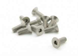 Titanium M3 x 8mm Countersunk Hex Screw (10pcs/bag)