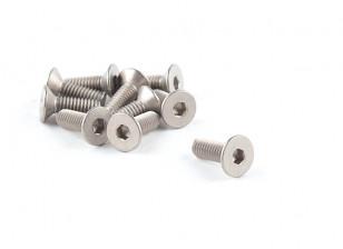 Titanium M4 x 12 Countersunk Hex Screw (10pcs/bag)
