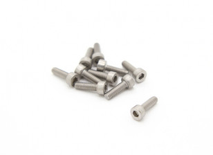 Titanium M2.5 x 8 Sockethead Hex Screw (10pcs/bag)