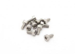 Titanium M3 x 6 Sockethead Hex Screw (10pcs/bag)