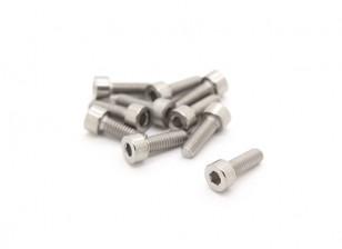 Titanium M4 x 12 Socket Head Hex Screw (10pcs/bag)