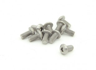 Titanium M3 x 6mm Button Head Hex Screw (10pcs/bag)