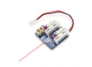 2.4Ghz SuperMicro Systems - DSM2 Compatible Receiver w/ Brushed ESC, Linear Servos