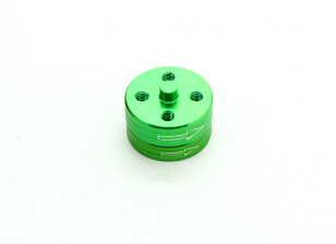 CNC Aluminum Quick Release Self-Tightening Prop Adapters Set - Green (Clockwise)