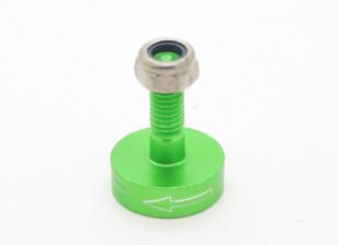 CNC Aluminum M6 Quick Release Self-Tightening Prop Adapter - Green (Prop Side) (Counter-Clockwise)