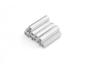 Lightweight Aluminum Hex Section Spacer M3 x 22mm (10pcs/set)