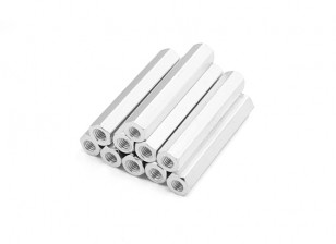 Lightweight Aluminum Hex Section Spacer M3 x 30mm (10pcs/set)