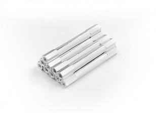 Lightweight Aluminum Round Section Spacer M3 x 45mm (10pcs/set)