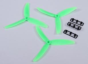 Hobbyking™ 5x3 3-Blade Propeller Green (CCW) (3pcs)