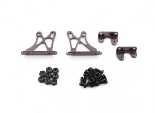 1/10 Alum. Adjustable Wing Support Frame - Low (Titanium)