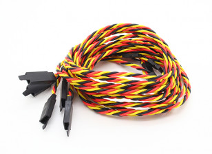 Twisted 80cm Servo Lead Extention (JR) with hook 22AWG (5pcs/bag)