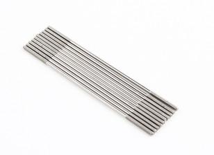 M2x75mm Stainless Steel Push Rods (LH & RH Threaded) (10pcs)