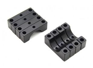 Black Anodized CNC 4.5mm Aluminum Tube Clamp 10mm Diameter
