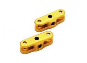 25mm Folding Propeller Adapter for 3mm Shaft (Gold) 1 Pair