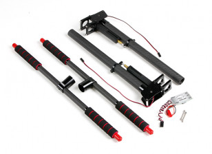 Multi-Rotor Metal and Carbon Retractable Landing Gear with Control Unit for 22mm Mounting Tubes