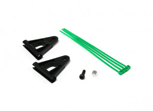 RJX Tail Boom Support Reinforcement for 6mm Rods - Black